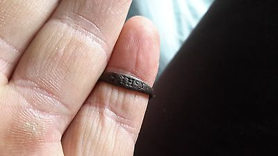 Medieval Bronze Ring With Name Of Jesus/IHS-Detecting Find