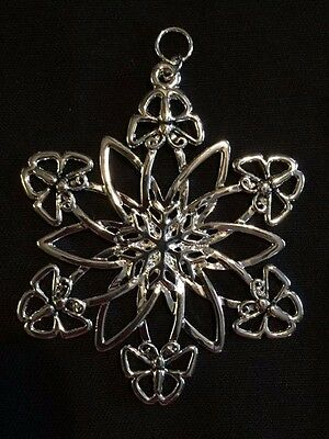 NEW SNOW WONDERS BUTTERFLY FLOWER Snowflake Ornament Pendant SNOWWONDERS