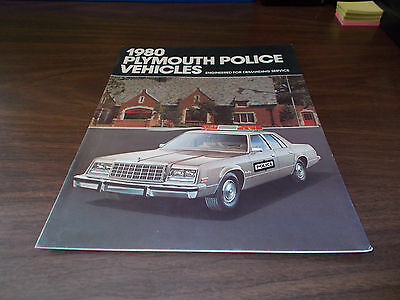 1980 Plymouth Police Vehicles Sales Catalog -Original