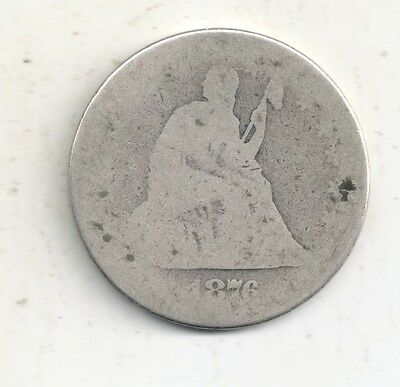 1876 Seated Liberty Quarter 90% Silver