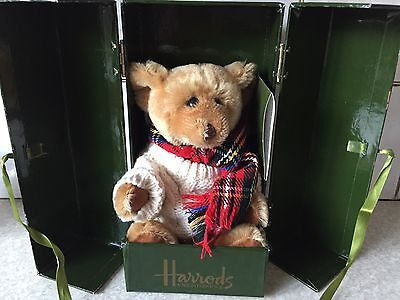 Rare Harrods Merrythought 2002 Boxed Bear Ltd Edition Christmas only 500 made