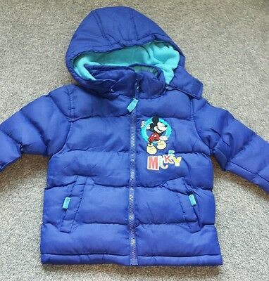 Kids girls Coat DISNEY Hooded Padded Warm Trendy coat size 4 Years. Brand new