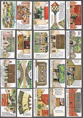 1925 Mitchell's Cigarettes Village Models Tobacco Cards Complete Set of 25