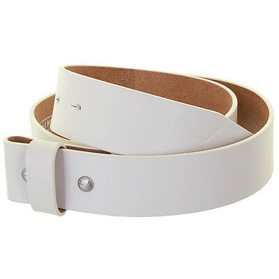 "Puma Golf Mens Genuine Leather Belt Strap 1.5"" - White - M"