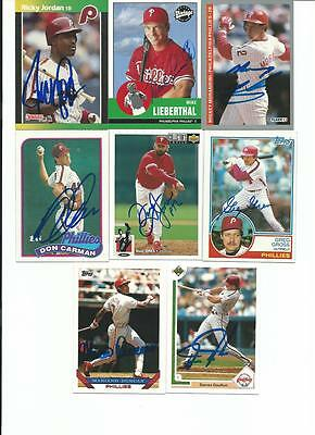 Philadelphia   Phillies   8     Card   Autographed   Lot