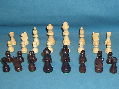"Games Wood Chess Set Complete King Is 3-1/8"" Tall"