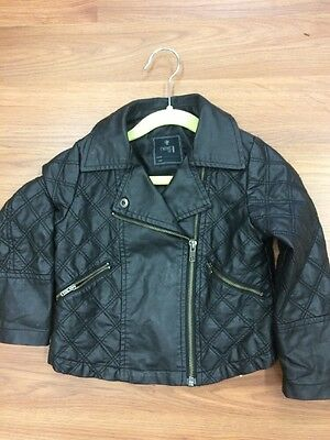 Next Girls Leather Look Jacket Age 3-4 Immaculate