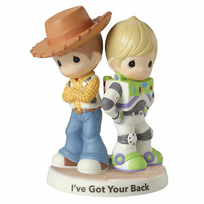 Precious Moments Disney Woody and Buzz Lightyear Toy Story I've Got Your Back