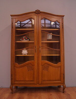 1190 !! Amazing Oak French Display Cabinet/bookcase In Louis Xv Style !!