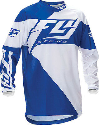 Fly Racing F-16 Jersey - BLUE / WHITE - Small ( S ) _369-921S