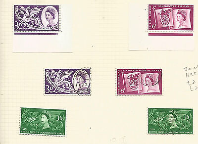 1958 COMMONWEALTH GAMES - Mounted Mint & USED - CIRCULAR POSTMARKS