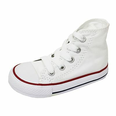 Converse Infant White Chuck Taylor All Star Hi Canvas Trainers