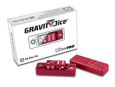 Gravity Dice D6 - 2 Dice Set Gravity Dice - Crimson UPI 84874