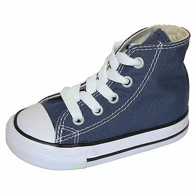 Converse Infant Trainers Chuck Taylor All Star Hi Navy Canvas Sneakers