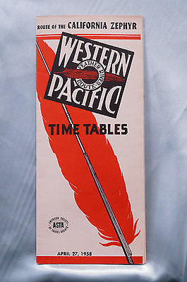 Western Pacific - Timetable - April 27, 1958 - California Zephr