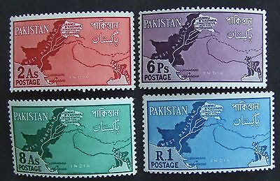 1960 Pakistan mint set of stamps with map of Pakistan