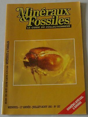 MINERAUX ET FOSSILES - N° 187 - Chrysomelidae, AMBRE, Electrapis - 07/91