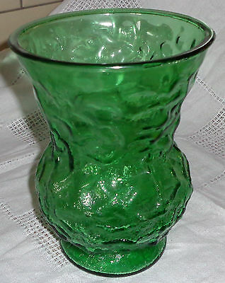 Vintage C. O. Brody Co. Green Glass Crinkle Vase no 2