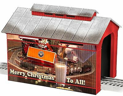 6-83291 O Scale Lionel Christmas Covered Bridge
