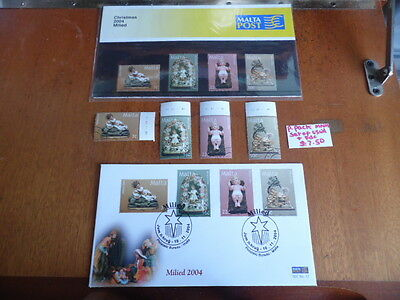 Malta ~ FDC, P Pack & Used Stamps ~ Christmas 2004