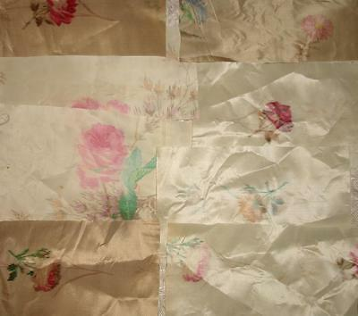 BATCH OF 12 PIECES BEAUTIFUL MID 19th CENTURY FRENCH SILK, PROJECTS REF