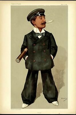 Yachting Nautical Owner Of Yacht Ailsa Defeated Britannia Vanity Fair Lithograph