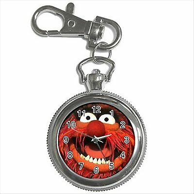 NEW* HOT ANIMAL THE MUPPETS Silver Tone Key Chain Ring Watch Gift