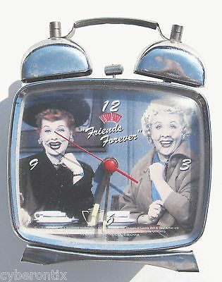 I Love Lucy Alarm Clock Wind-Up Friends Forever Works Twin Bell Glows in Dark