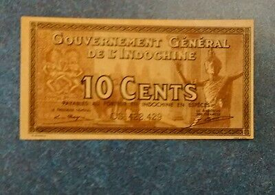 Indochina 10 Cent Note , Unc.