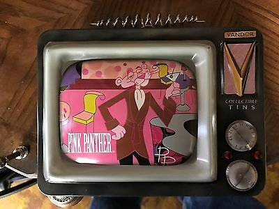 pink panther  lunch box tv tin