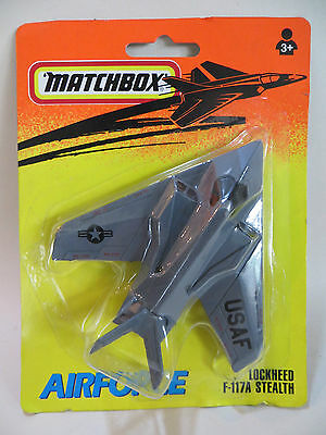Matchbox Skybusters 'lockheed Usaf F117A Stealth Plane'. 'airforce' Mib/boxed
