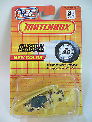 Matchbox Mb46 'mission Chopper' Desert Military Helicopter. Mib/boxed.