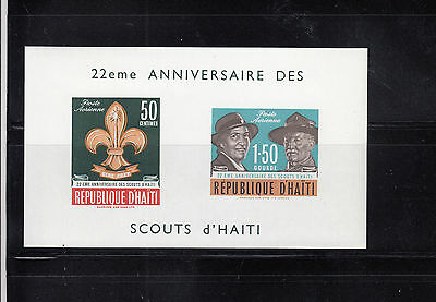 Haiti 1962 Boy Scouts Air MS Sc C195a MS   mint never hinged