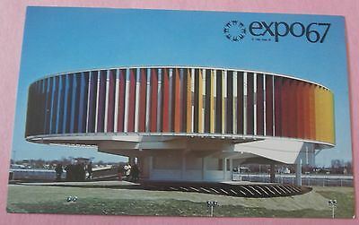 "Kaleidoscope Pavilion ""Man and Color"" Expo 67 Montreal Canada -Unused Postcard"