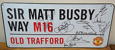 Manchester United Official Street Plaque Signed  By 9