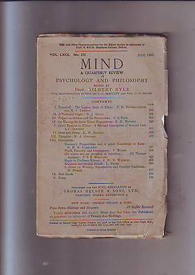MIND - A Quarterly Review of Psychology and Philosophy - July 1960