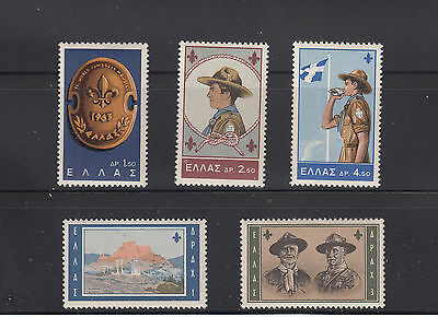 Greece  1963  Scouts Sc 759-763   Mint never hinged