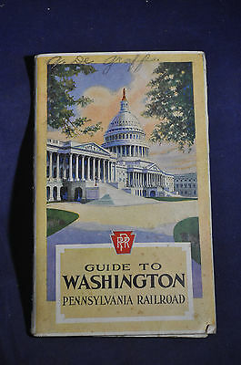 1926 *EARLY* Guide to Washington DC by Pennsylvania Railroad (PRR)
