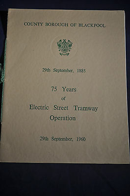 1960 75 Years of Electric Street Tramway Operation Blackpool
