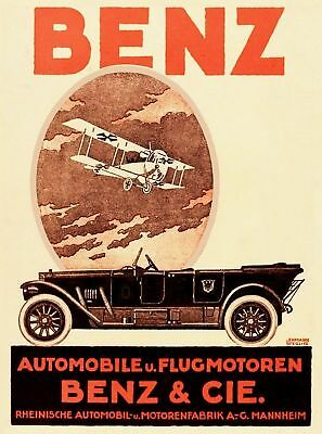 Plakat: (Mercedes) Benz & Cie. Automobile, 1918 Reprint