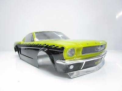 Custom Painted HPI 1/10 1966 Ford Mustang On Road Car 200mm Body Shell OZ RC