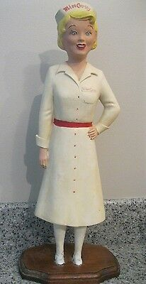 """Vintage Miss Curity Girl 1950's Advertising Figure Store Display 19"""" First Aid"""