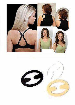 Pack 4 Bra Clips  -  Black, White, Nude & Clear      FREE Postage