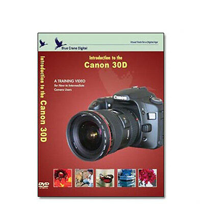 New Canon 30D DVD Volume 1 Camera Training Guide Manual