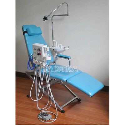 Portable Dental Folding Chair with Portable Turbine Rechargeable LED Light