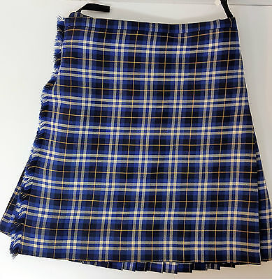 "Ex Hire 42"" waist 26"" drop Kilmarnock Killie FC 5 Yard Wool Kilt B condition"