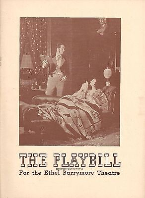 """Katharine Cornell """"THE BARRETTS OF WIMPOLE STREET"""" Brian Aherne 1945 Playbill"""