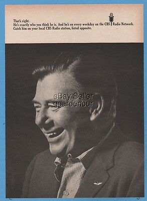 1967 Arthur Godfrey photo CBS Radio Network vintage magazine print Ad