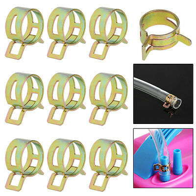 10Pcs 20mm Spring Clip Fuel Line Hose Water Pipe Air Tube Clamps Fastener