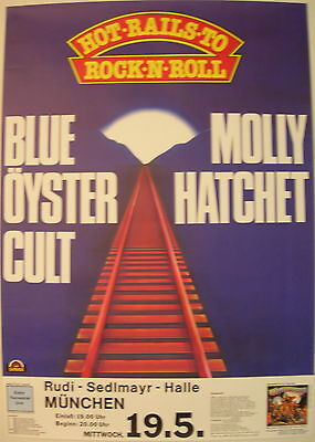 Blue Oyster Cult Molly Hatchet Concert Tour Poster 1982 Extraterrestrial Live